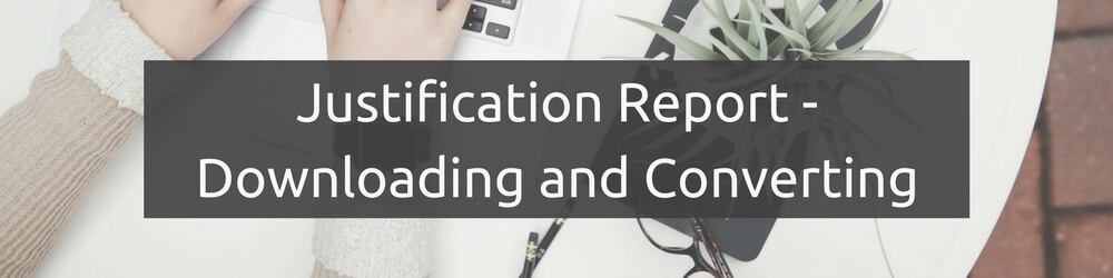 Justification Report conversion to Excel