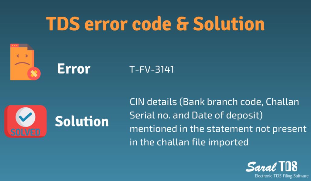 TDS error codes