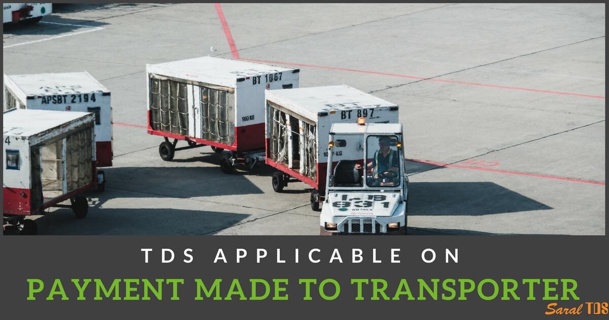 TDS on Transporter