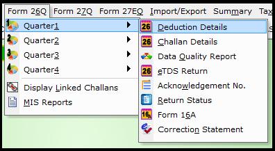 enter deduction details
