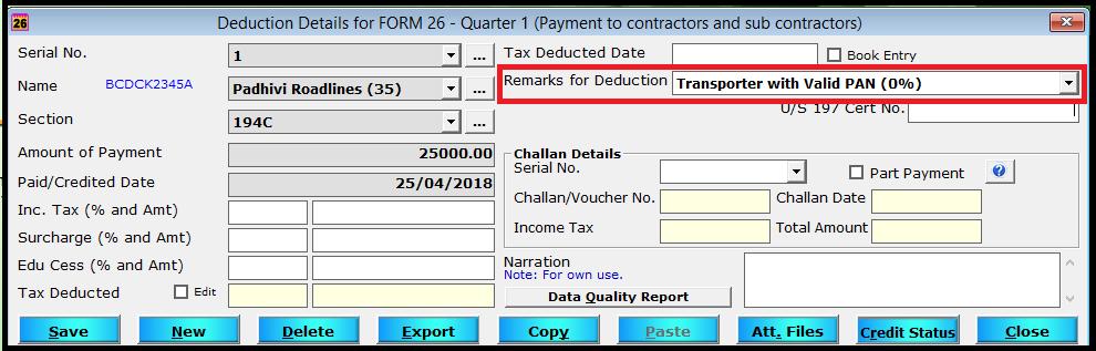 enter deduction details 7