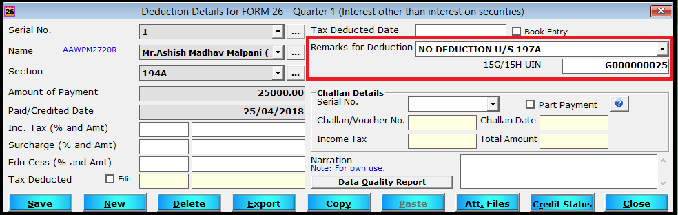 enter deduction details 8