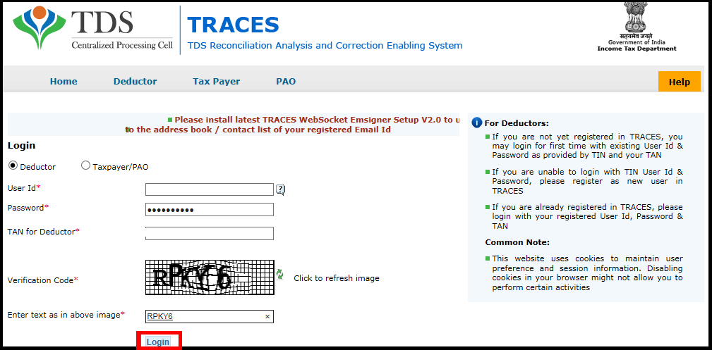 Lower Deduction or No deduction certificate using Saral TDS 4