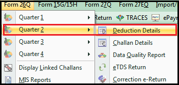 tds on transporter in saral tds - deduction details