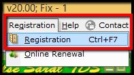 1.Registration Renewal in Saral TDS - Registration menu.