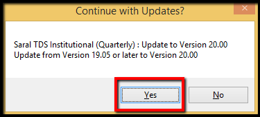 4.1.Procedure for software update in Saral TDS-Yes