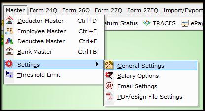 1.Form 15G15H return filing in Saral TDS- general setting