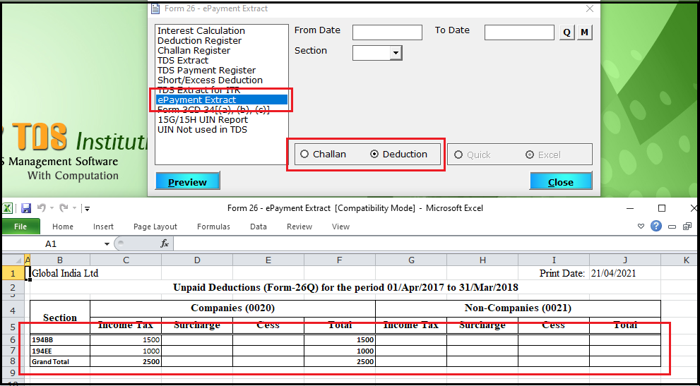 7.Extract Payment Deduction